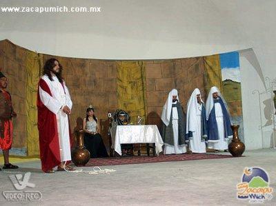 Representación de La Pasión en Santa ana, 2