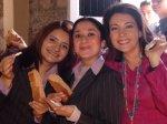 Mujeres de La Piedad. Ligia López, 13. Blanca, Pili, y Ligia, presumiendo sus niños, dice Ligia