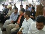 Firma de convenio, 21. Don Tarcicio Bribiesca, asistió al acto