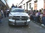 Desfile, abre la policía local