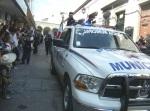 Desfile. Contingente policial