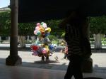 En la plaza remozada