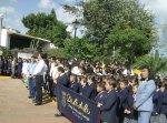 Escolares del Colegio Vasco de Quiroga, esperando