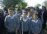 Escolares en el acto cívico