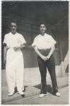 Angel Paz y Puente y  Silviano Martínez, de gimnastas en Puebla, 1953