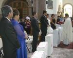 En la boda de Patricia y Jorge, 1, Los novios ante el altar