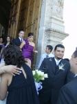 En la boda de Patricia y Jorge, 10, a la salida del templo