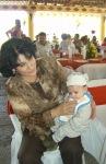 En la boda de Patricia y Jorge, 13, Mago y Leo, el nietecito