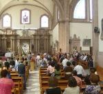 En la boda de Patricia y Jorge, 9, a la hora de la misa