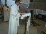 Fiesta en Infonavit, lectura del Evangelio