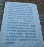 Fiesta en Infonavit. Una oración en la pared del templo en construcción