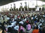 Miles de asistentes, en la explanada