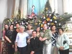 Grupo de Liturgia de Ario: Chuy Hernández, doña Domi Rodríguez, Benita Toledo, su servidora, Lucila Bueno, Abelia Rocha y Mago Hernández, con el padre