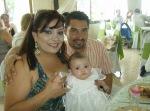 La Piedad. El convivio con periodistas, 38. Lorena y su angelito